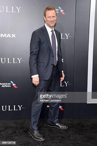 Aaron Eckhart attends the Sully New York Premiere at Alice Tully Hall on September 6 2016 in New York City