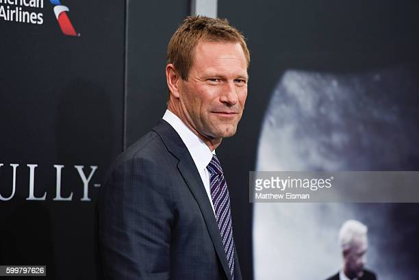 Aaron Eckhart attends the 'Sully' New York Premiere at Alice Tully Hall on September 6 2016 in New York City