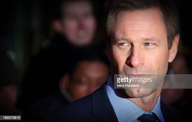 Aaron Eckhart attends the UK Premiere of 'Olympus Has Fallen' at BFI IMAX on April 3 2013 in London England