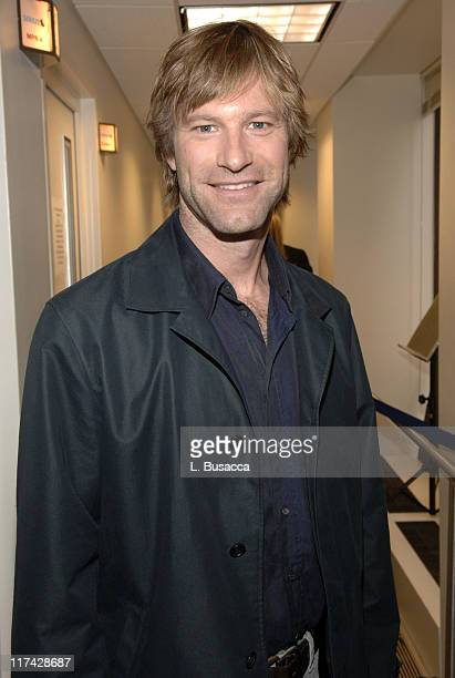 Aaron Eckhart during Cosmo Radio Channel Debuts Today Exclusively on Sirius Satellite Radio March 14 2006 at Sirius Satellite Radio in New York City...