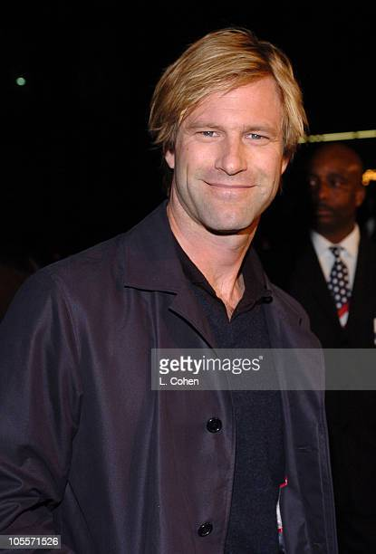 Aaron Eckhart during Finding Neverland Los Angeles Premiere Red Carpet at Academy of Motion Picture Arts And Sciences in Los Angeles California...