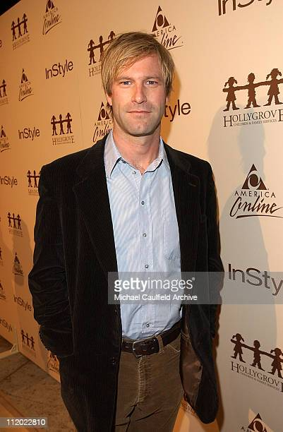 Aaron Eckhart during Minnie Driver Performance Hosted by InStyle Magazine and AOL at Mortons in West Hollywood California United States