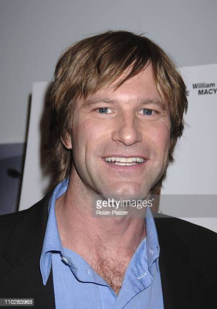 "Aaron Eckhart during ""Thank You For Smoking"" New York Premiere - Inside Arrivals - March 12, 2006 at Museum of Modern Art in New York City, NY,..."