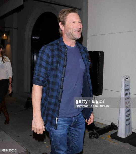 Aaron Eckhart is seen on April 27 2017 in Los Angeles CA