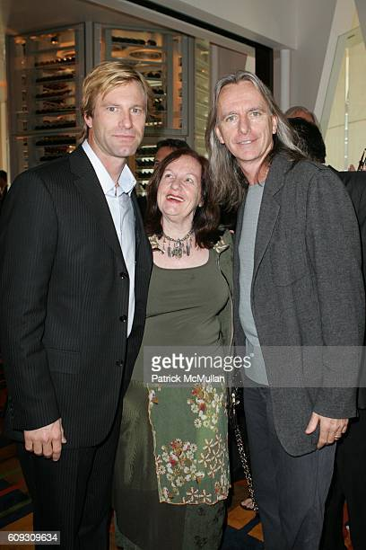 Aaron Eckhart Kerry Heysen and Scott Hicks attend MARTHA STEWART SIRIO MACCIONI and ANDREW BORROK Host a Lucheon to Celebrate 'NO RESERVATIONS' at Le...