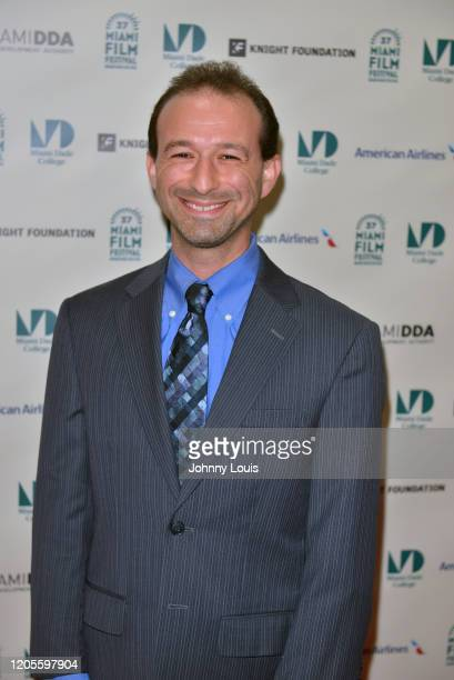 Aaron Feinsberg is seen during 37th Annual Miami Film Festival presented by Miami Dade College opening night Film 'The Burnt Orange Heresy' at...