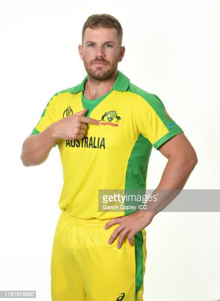 Aaron Finch of Australia poses for a portrait prior to the ICC Cricket World Cup 2019 at on May 26 2019 in Southampton England