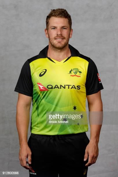 Aaron Finch poses during the Australian International Twenty20 headshots session at Sydney Cricket Ground on February 1 2018 in Sydney Australia