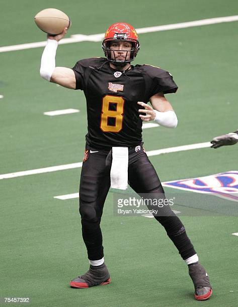 Aaron Garcia in action against the Nashville Kats during opening night of the Arena Football League regular season played at Nassau Coliseum in Long...