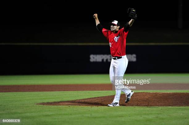 Aaron Gerbasi Of The University Tampa Celebrates After Final Out Against Minnesota StateMankato During