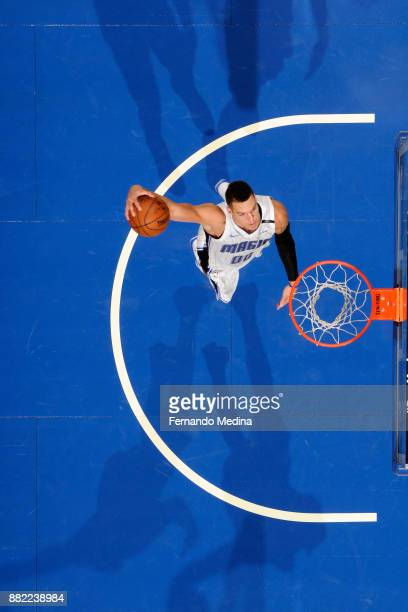 Aaron Gordon of the Orlando Magic dunks the ball against the Oklahoma City Thunder on November 29 2017 at Amway Center in Orlando Florida NOTE TO...