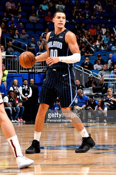 Aaron Gordon of the Orlando Magic handles the ball against the Cleveland Cavaliers on November 5 2018 at Amway Center in Orlando Florida NOTE TO USER...