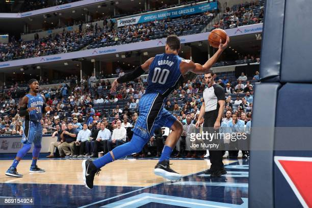 Aaron Gordon of the Orlando Magic looks to pass against the Memphis Grizzlies on November 1 2017 at FedExForum in Memphis Tennessee NOTE TO USER User...
