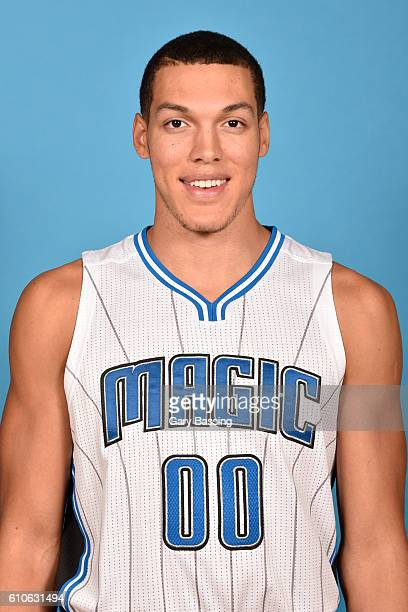 Aaron Gordon of the Orlando Magic poses for a head shot during NBA Media Day on September 26 2016 at Amway Center in Orlando Florida NOTE TO USER...