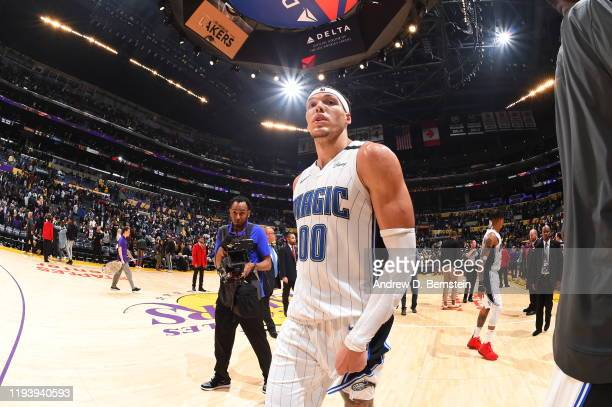 Aaron Gordon of the Orlando Magic seen following the game against the Los Angeles Lakers on January 15 2020 at STAPLES Center in Los Angeles...