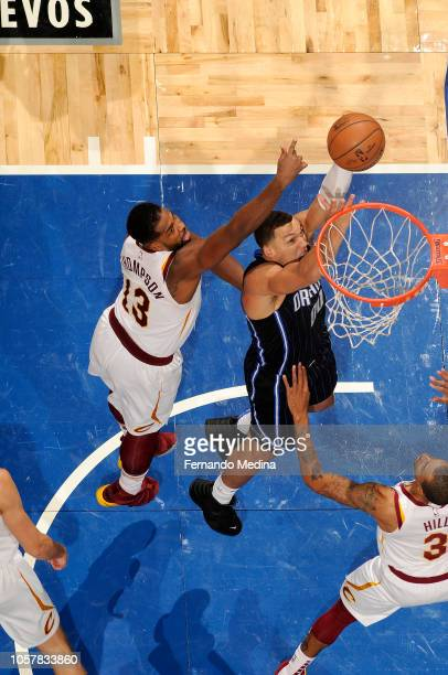 Aaron Gordon of the Orlando Magic shoots the ball against the Cleveland Cavaliers on November 5 2018 at Amway Center in Orlando Florida NOTE TO USER...