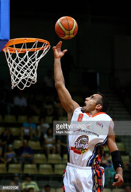 Aaron Grabau of the Taipans drives to the basket during the round 21 NBL match between the Sydney Spirit and the Cairns Taipans held at Sydney...
