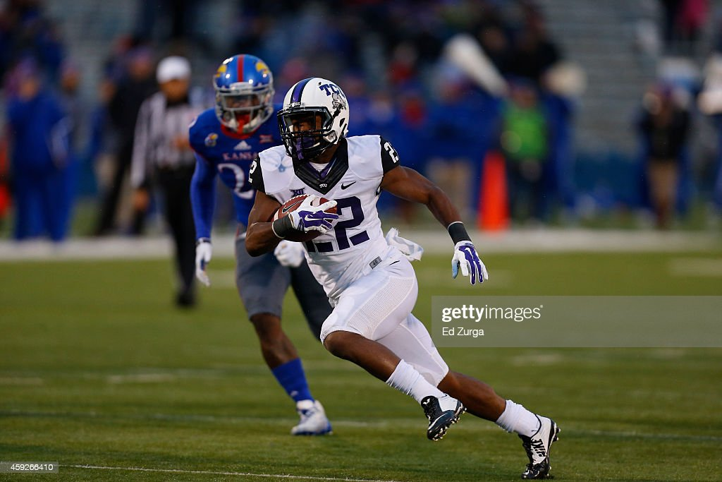 TCU v Kansas : News Photo