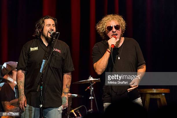 Aaron Hagar and Sammy Hagar perform at 3rd annual Acoustic4aCure benefit concert at The Fillmore on May 15 2016 in San Francisco California