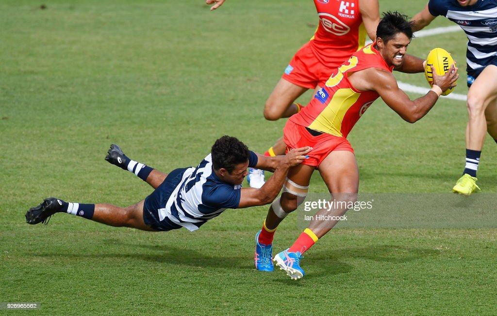 Gold Coast v Geelong - JLT Community Series : News Photo