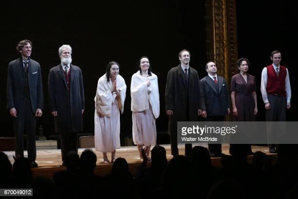 Aaron Halva Tom Nelis Adina Verson Katrina Lenk Richard Topal Steven Rattazzi Mimi Lieber Max Gordon Moore during the Broadway Opening Night...