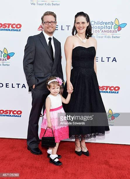 Aaron Hammersley Hazel Hammersley and Lauren Hammersley arrive at the Children's Hospital Los Angeles Gala Noche de Ninos at the LA Live Event Deck...