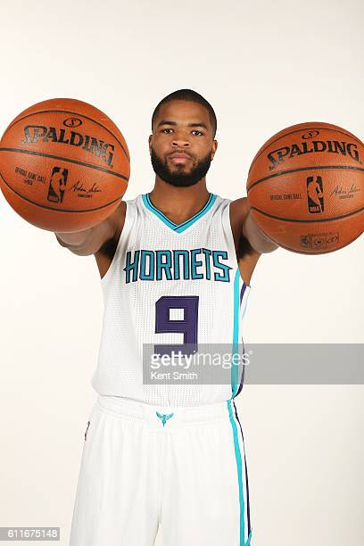 Aaron Harrison of Charlotte Hornets poses for Media Day Portraits at the Time Warner Cable Arena on September 26 2016 in Charlotte North Carolina...
