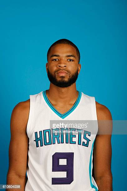 Aaron Harrison of the Charlotte Hornets poses for a head shot during the 20162017 Charlotte Hornets Media Day at the Time Warner Cable Arena on...