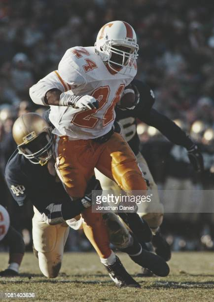 Aaron Hayden Running Back for the University of Tennessee Volunteers runs the ball during the NCAA Southeastern Conference college football game...