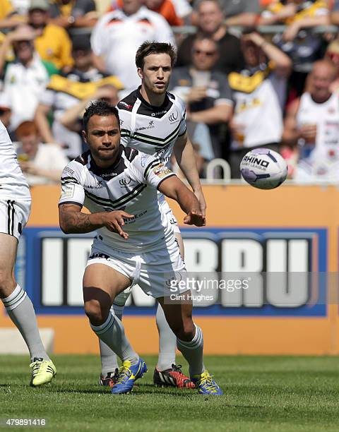 Aaron Heremaia of Widnes Vikings in action during the First Utility Super League match between Castleford Tigers and Widnes Vikings at The Jungle on...
