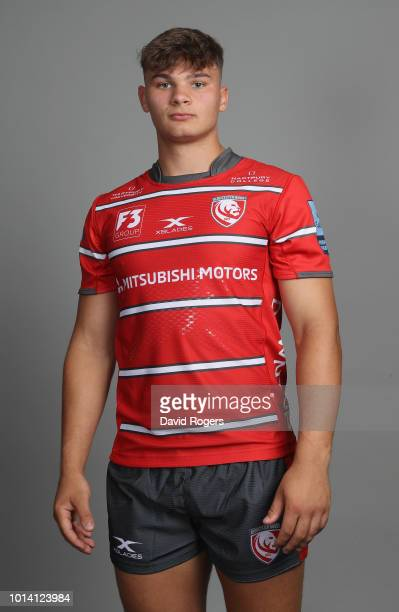 Aaron Hinkley poses for a portrait during the Gloucester Rugby squad photo call for the 201819 Gallagher Premiership Rugby season held at Kingsholm...