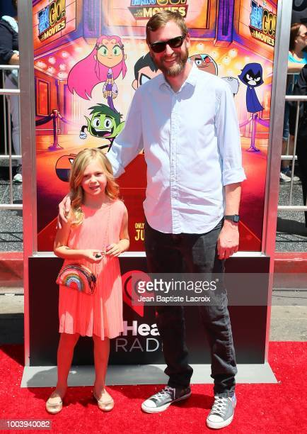 """Aaron Horvath attends the premiere of Warner Bros. Animations' """"Teen Titans Go! To The Movies"""" on July 22, 2018 in Los Angeles, California."""