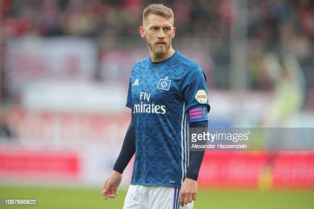 Aaron Hunt of Hamburg looks on during the Second Bundesliga match between FC Ingolstadt 04 and Hamburger SV at Audi Sportpark on December 1 2018 in...