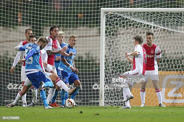 Aaron Hunt of HSV goal during the friendly match Ajax Amsterdam v HSV on January 9 2016 at Belek Turkey