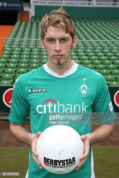 Sternzeichen Jungfrau Spieler des SV Werder Bremen Bundesliga 2007/2008 WeserStadion Bremen Deutschland Europa Fussballclub Fussballer Fussballprofi...