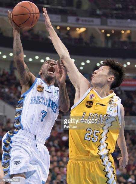 Aaron Jackson of Beijing Ducks in action during the 2017/2018 CBA League match between Beijing Duck and Guang Sha at Cadillac Arena on December 21...