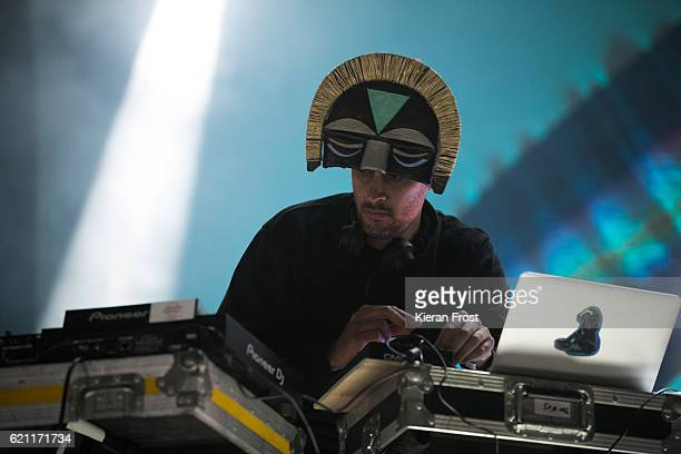 Aaron Jerome performs as SBTRKT at Metropolis Festival at the RDS Concert Hall on November 4 2016 in Dublin Ireland