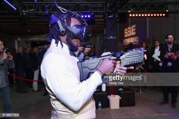 Aaron Jones attends Leigh Steinberg Super Bowl Party 2018 on February 3 2018 in Minneapolis Minnesota