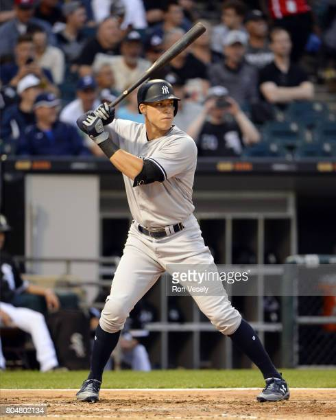 Aaron Judge of the New York Yankees bats against the Chicago White Sox on June 28 2017 at Guaranteed Rate Field in Chicago Illinois