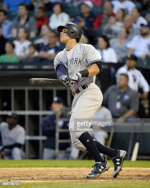 Aaron Judge of the New York Yankees bats against the Chicago White Sox on June 27 2017 at Guaranteed Rate Field in Chicago Illinois
