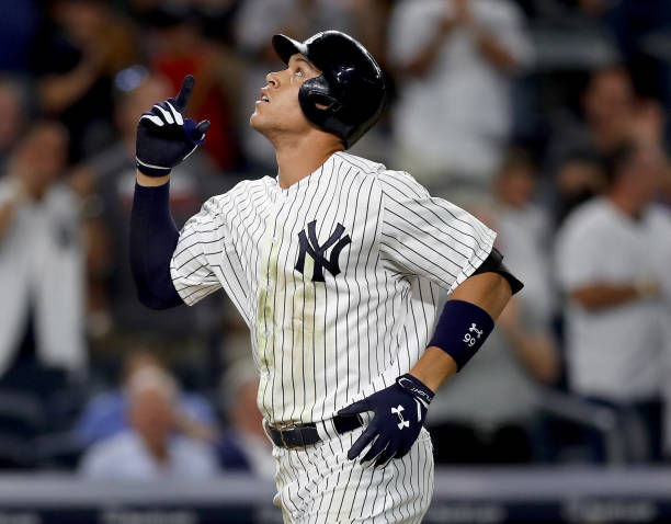 4dd1e1cb82b Aaron Judge  99 of the New York Yankees celebrates his solo home run in the