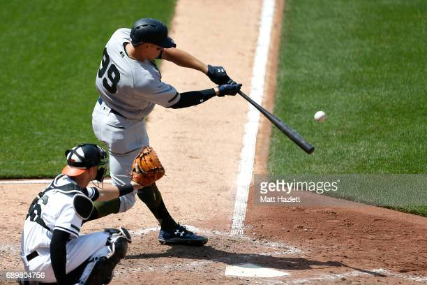 Aaron Judge of the New York Yankees hits a solo home run against the Baltimore Orioles during the seventh inning at Oriole Park at Camden Yards on...
