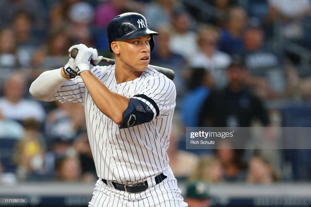 Oakland Athletics v New York Yankees : Foto jornalística