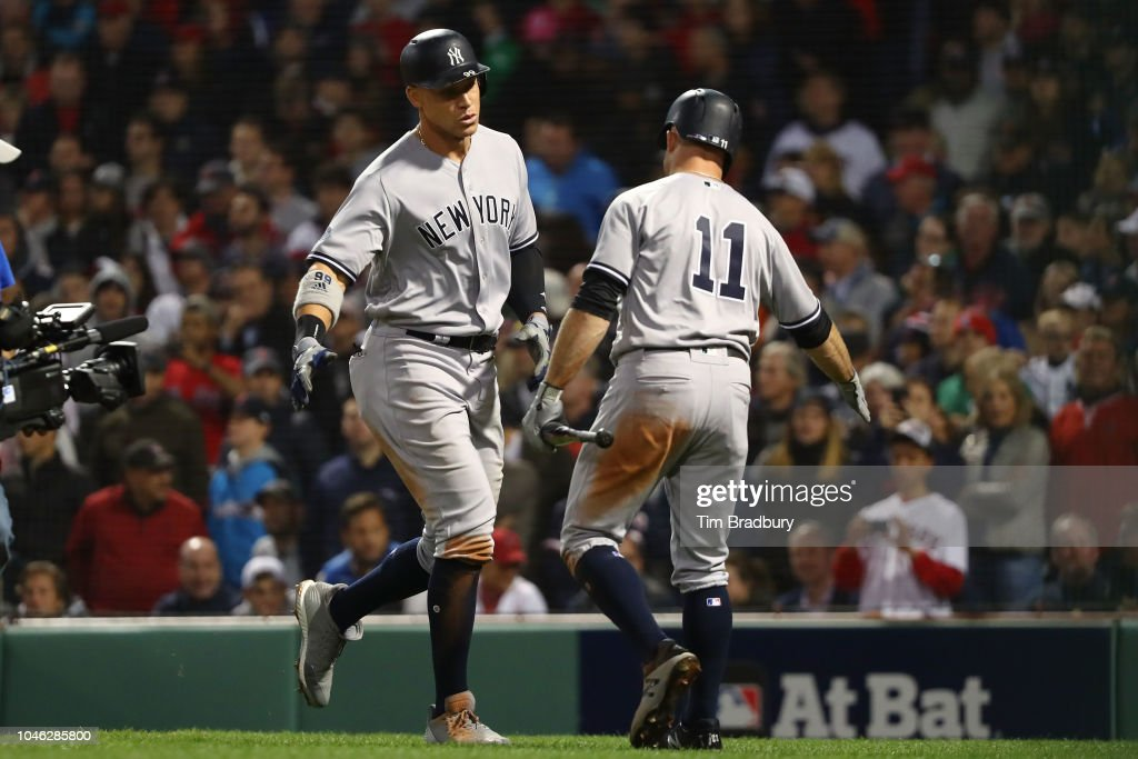 Divisional Round - New York Yankees v Boston Red Sox - Game One : News Photo