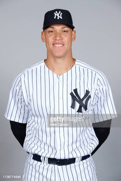 Aaron Judge of the New York Yankees poses during Photo Day on Thursday February 21 2019 at George M Steinbrenner Field in Tampa Florida