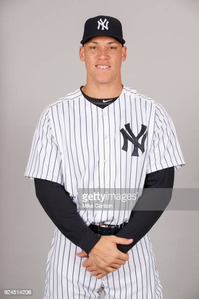 Aaron Judge of the New York Yankees poses during Photo Day on Wednesday February 21 2018 at George M Steinbrenner Field in Tampa Florida
