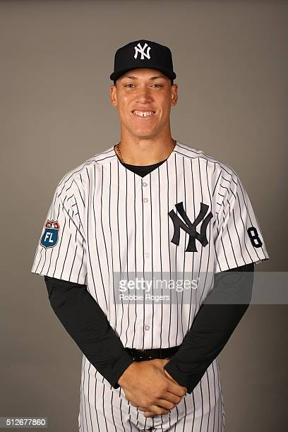 Aaron Judge of the New York Yankees poses during Photo Day on Saturday February 27 2016 at George M Steinbrenner Field in Tampa Florida
