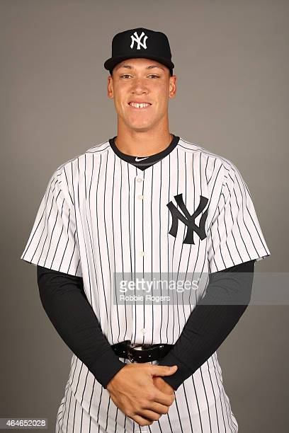 Aaron Judge of the New York Yankees poses during Photo Day on Friday February 27 2015 at George M Steinbrenner Field in Tampa Florida