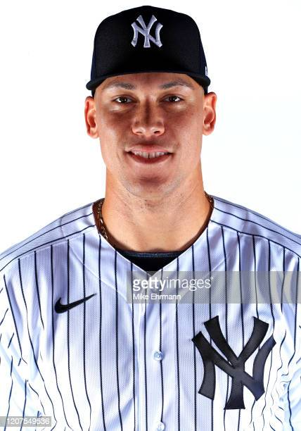 Aaron Judge of the New York Yankees poses for a portrait during photo day on February 20 2020 in Tampa Florida