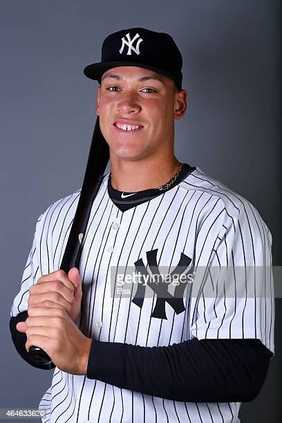Aaron Judge of the New York Yankees poses for a portrait on February 27 2015 at George M Steinbrenner Stadium in TampaFlorida